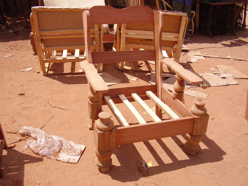 Furniture from a simple carpentry workshop.